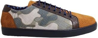 Lords Of Harlech Trevor Sneaker In Camel Camo