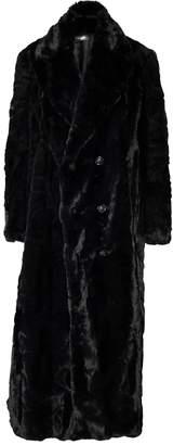 Amiri full length faux fur coat