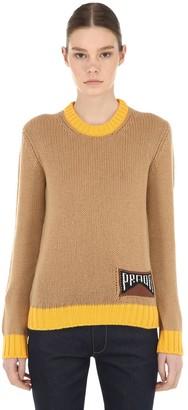 Prada Logo Cashmere Sweater