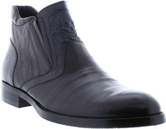 Robert Graham Men's Zeitz Two-Tone Skull Leather Boots