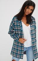 PrettyLittleThing Grey Checked Wool Coat