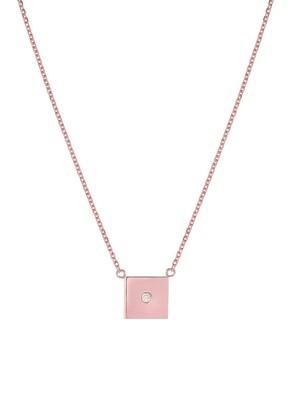 Mini Mini Jewels Forever Collection - Square Diamond Pendant Necklace