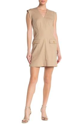 Veronica Beard Skylar V-Neck Cap Sleeve Dress