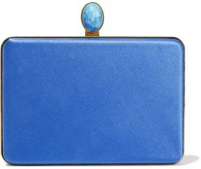 Oscar de la Renta Embellished Satin Clutch