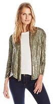 Haute Hippie Women's Drapey Blazer with Overlapping Sequins