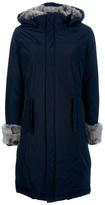 Woolrich fur trimmed coat
