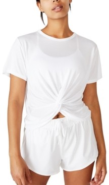 Cotton On Elastic Back Twist Front T-shirt