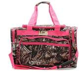 "Handbags BNB Natural Camouflage Canvas Lightweight 20"" Duffel Bag Pink"