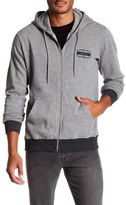 RVCA Right Box Contrast Hem Front Zip Hooded Jacket