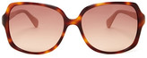 Diane von Furstenberg Women&s Plastic Fashion Sunglasses