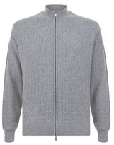 Canali Cashmere Zip Through Knit