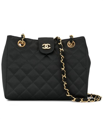 Chanel Pre Owned 1985-1993's quilted rhinestone CC chain shoulder bag
