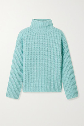 Vince Ribbed-knit Turtleneck Sweater - Blue