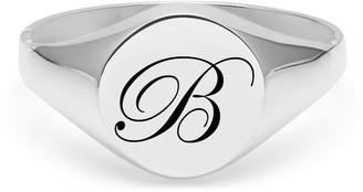 Myia Bonner Initial B Silver Edwardian Signet Ring