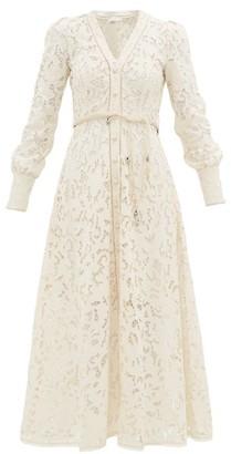Zimmermann Freja Broderie-anglaise Cotton Shirtdress - Womens - Ivory