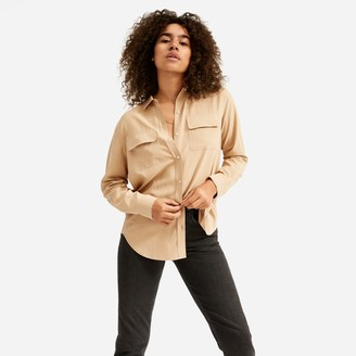 Everlane The Washable Silk Relaxed Shirt