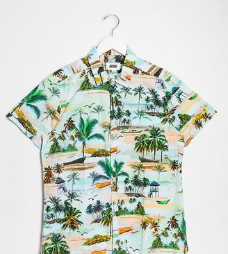 Jacamo short sleeve top in beach print
