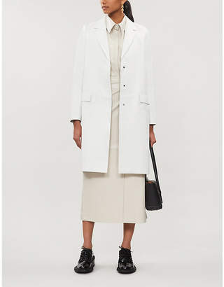 Rosetta Getty Tailored-fit notch-lapels leather coat