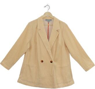 Daniel Rainn Double Breasted Textured Corduroy Jacket