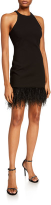 LIKELY Mora Sleeveless Cocktail Dress w/ Feathers