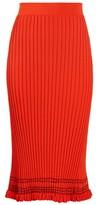 Altuzarra Gwendolyn Ribbed-knit Midi Skirt - Womens - Orange