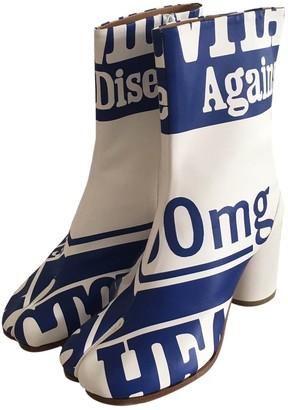 Maison Margiela Tabi White Leather Boots