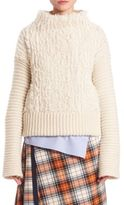 Cédric Charlier Furry Cable-Knit Turtleneck