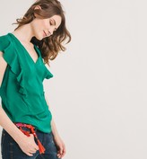 Promod Silky frilled top