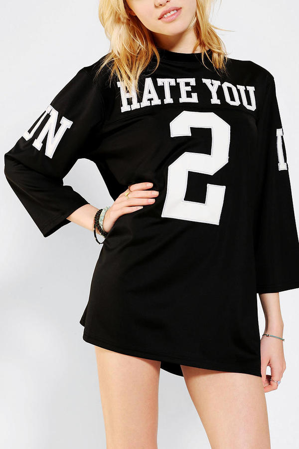 Urban Outfitters UNIF Hate You 2 Jersey Tee