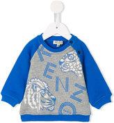 Kenzo logo print sweatshirt - kids - Cotton - 18 mth