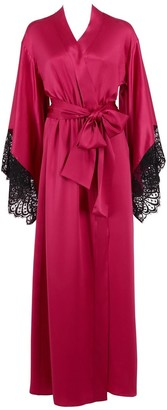 Renee Raspberry Long Robe
