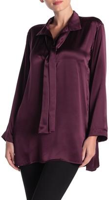 Jarbo Scarf Tie Long Sleeve Silk Blouse