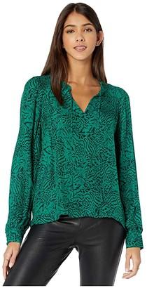 Parker Aussie Blouse (Jaded Jaguar) Women's Clothing