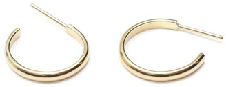 Skomer Studio All Day 9K Gold Everyday Hoop Earrings