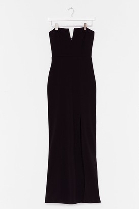 Nasty Gal Womens What's It Gonna V Slit Maxi Dress - Black