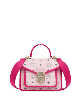 MCM Patricia Logo Top Handle Satchel Bag