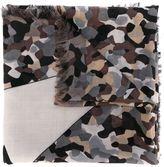 Fendi camouflage Bag Bugs scarf - men - Silk/Wool - One Size
