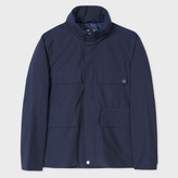 Paul Smith Men's Navy Lightweight Cotton-Blend Shower-Proof Field Jacket