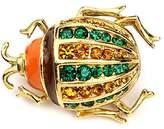 Ben-Amun Women's Love Bug Swarovski Crystal Beetle Brooch