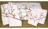 Oriental Furniture Fine Wedding Gift Idea Under 200, 7pc. Cherry Blossom Luxury Cotton Bath Towel Set, White