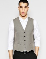 Selected Homme Skinny Dogtooth Waistcoat With Stretch