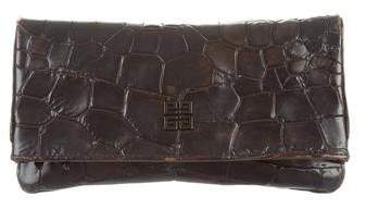 Givenchy Embossed Leather Clutch