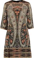 Vilshenko Printed wool mini dress