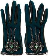Chanel Embellished Jersey Gloves