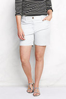 "Classic Women's Plus Size Mid Rise 7"" Chino Shorts-Navy"
