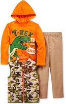 Nannette Little Boys' 3-Pc. Vest, Hoodie & Pants Set
