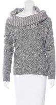 Oscar de la Renta Cowl Neck Virgin Wool Sweater