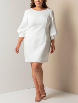Forever New Sasha Curve Bow-Back Mini Dress - Porcelain - 22