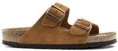 Birkenstock Mink Suede Leather Arizona Soft Footbed Sandals Narrow Fit - 39 - Brown
