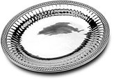 Wilton Armetale Flutes & Pearls Oval Tray